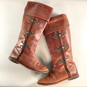 FRYE Paige Clovertab Cuff Riding Boots